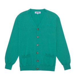 Fucking Awesome Cursive Cardigan Teal Medium