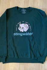 Stingwater Leave Me Alone I'm Tryin to Groe!! Sweatshirt Forest Green