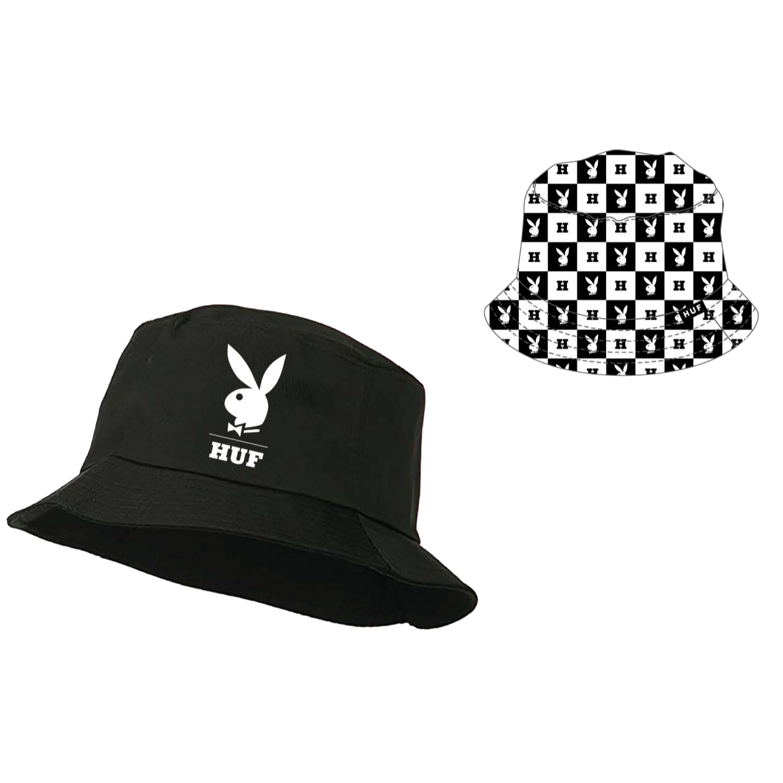 HUF Playboy Reversible Bucket Hat Black L/XL