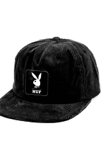 HUF Playboy Cord 5-Panel Black