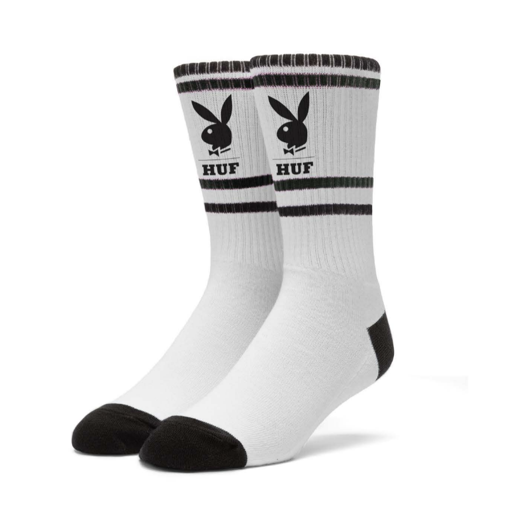 HUF Playboy HUF Crew Socks White