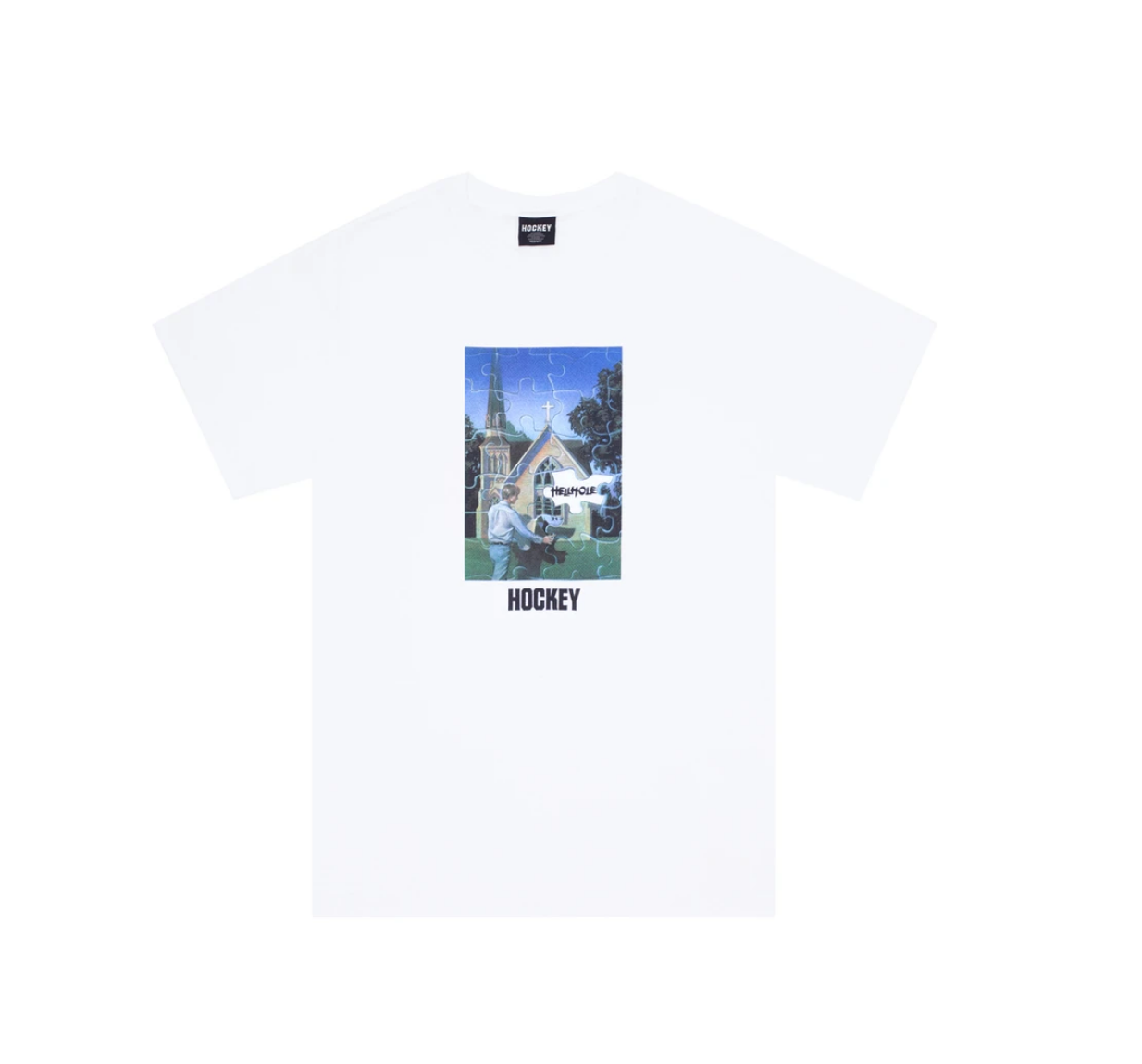 Hockey Hellhole Tee White