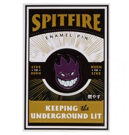 Spitfire Wheels Bighead Lapel Pin Black/Purple