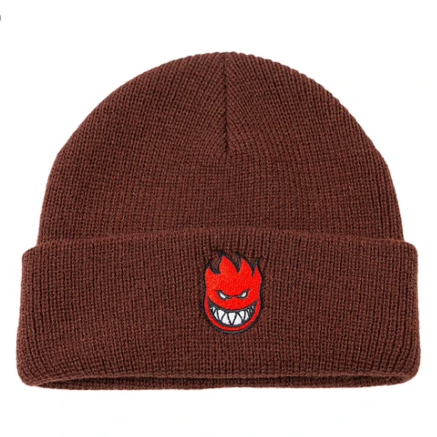 Spitfire Wheels Bighead Fill Cuff Beanie Dark Red