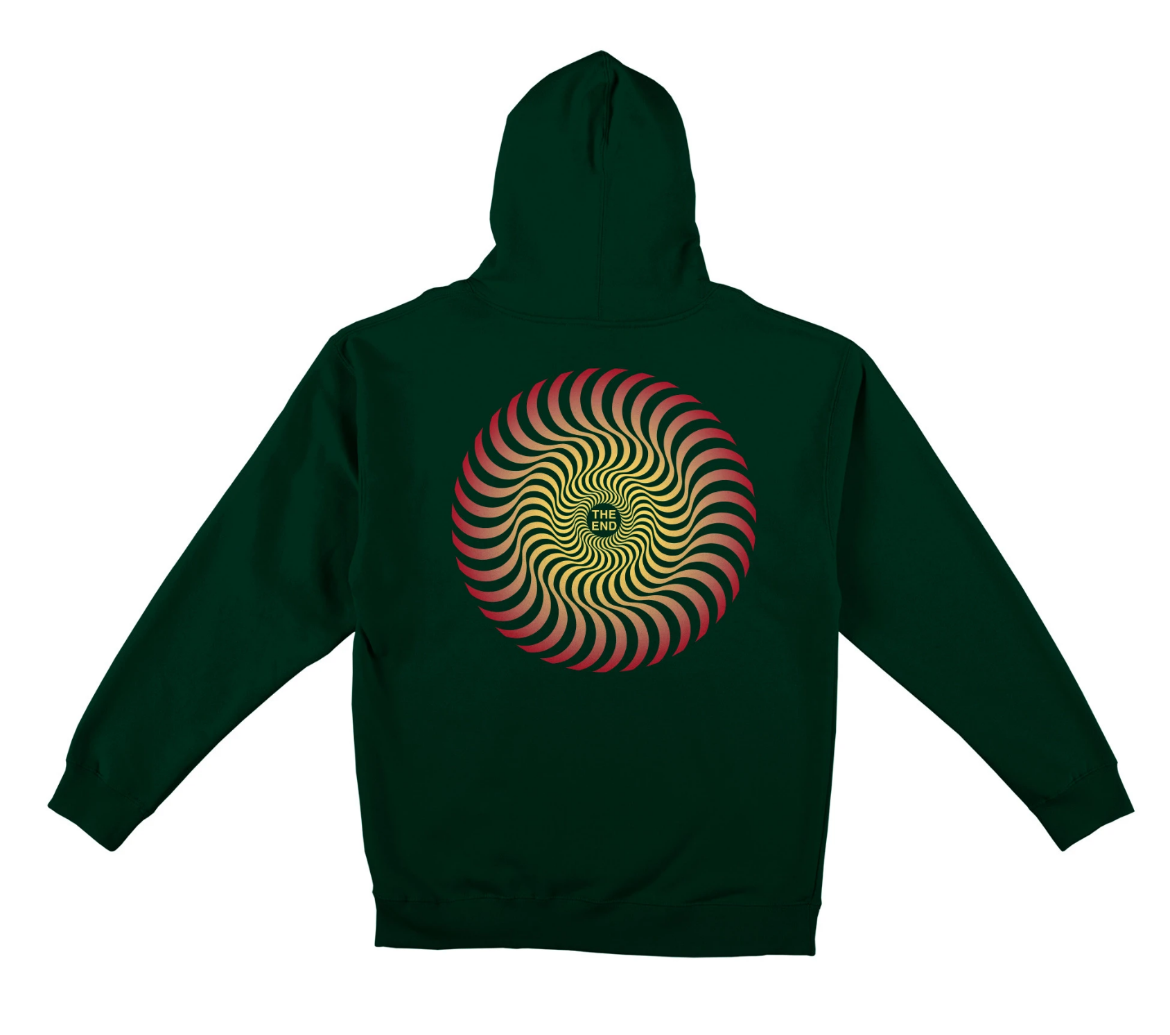 Spitfire Wheels Classic Swirl Fade Dark Green Hoodie