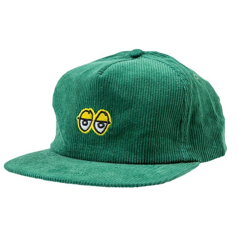 Krooked Eyes Dark Green/Yellow Snapback