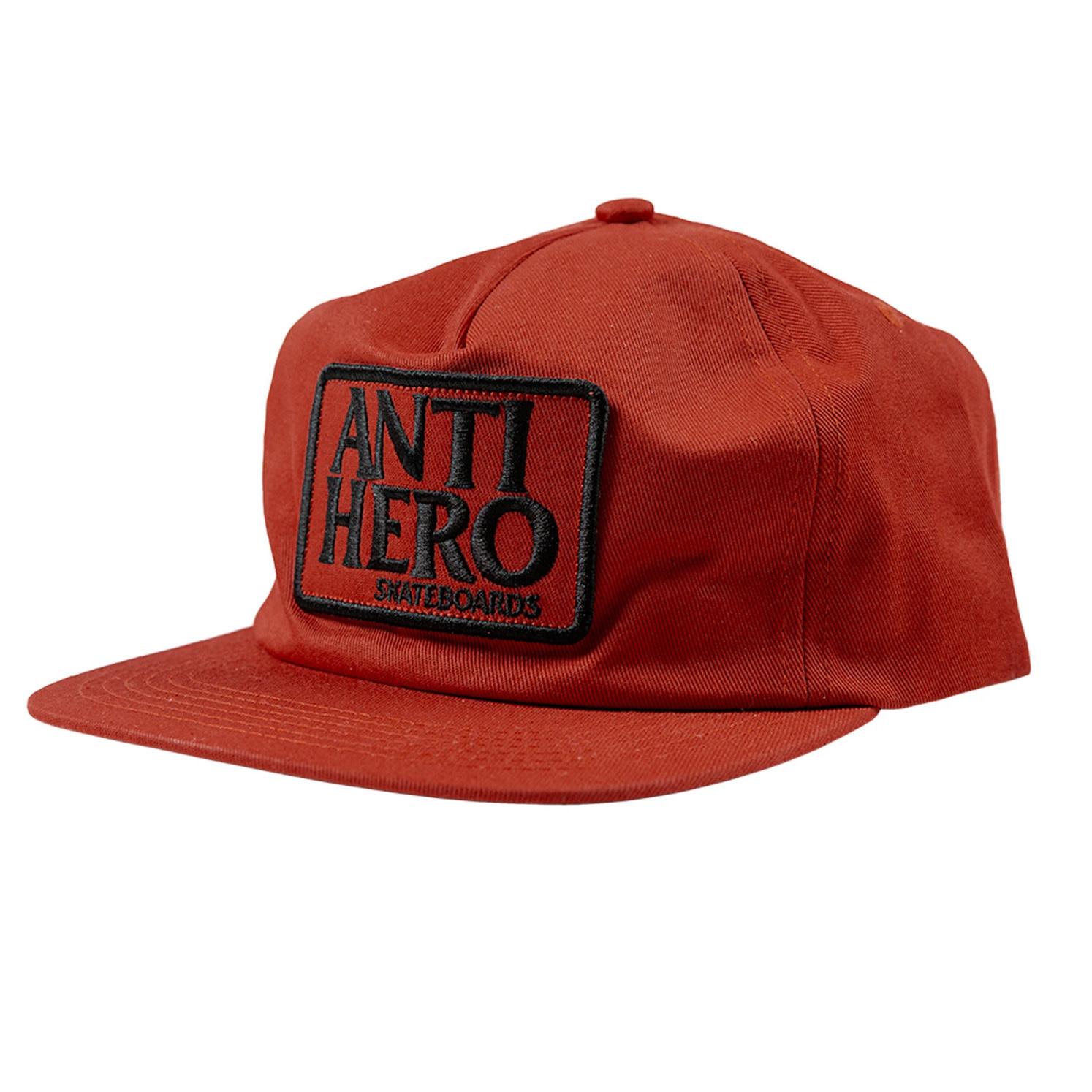 Anti Hero Reserve Patch Dark Red Snapback