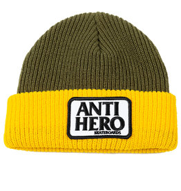 Anti Hero Reserve Patch Olive/Yellow Beanie