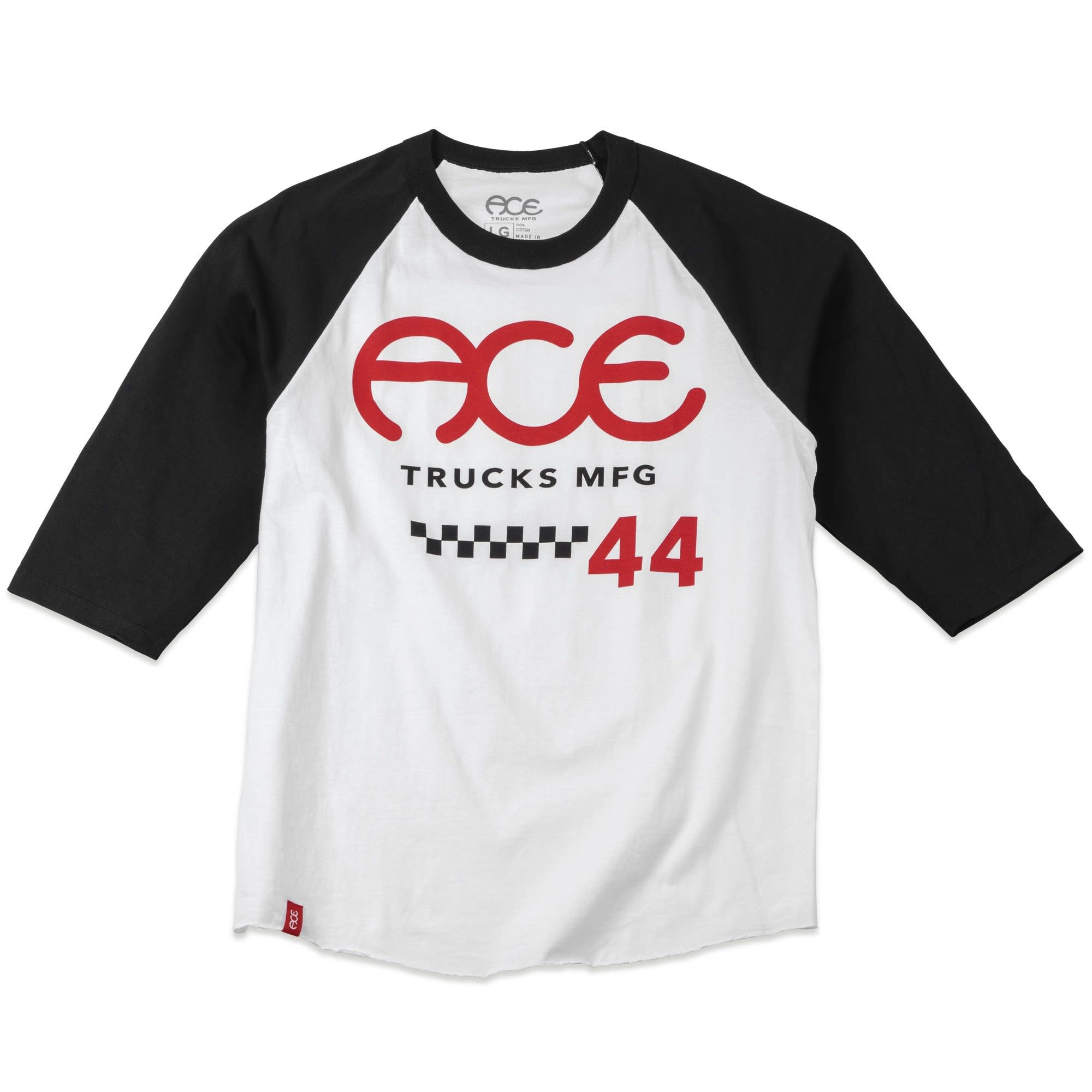 Ace Skateboard Truck MFG. 415 Raglan White/Black Tee