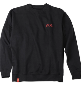 Ace Skateboard Truck MFG. Hutch Crew Neck Black Sweatshirt
