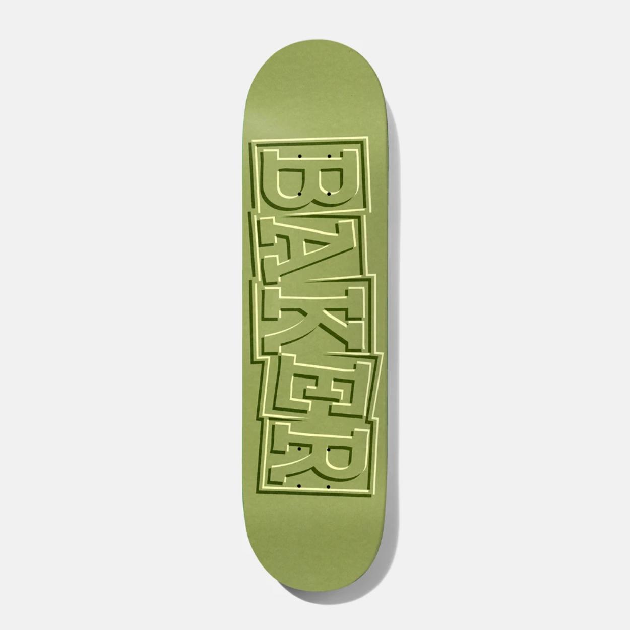 "Baker Skateboards TF Ribbon Green 8.5"""