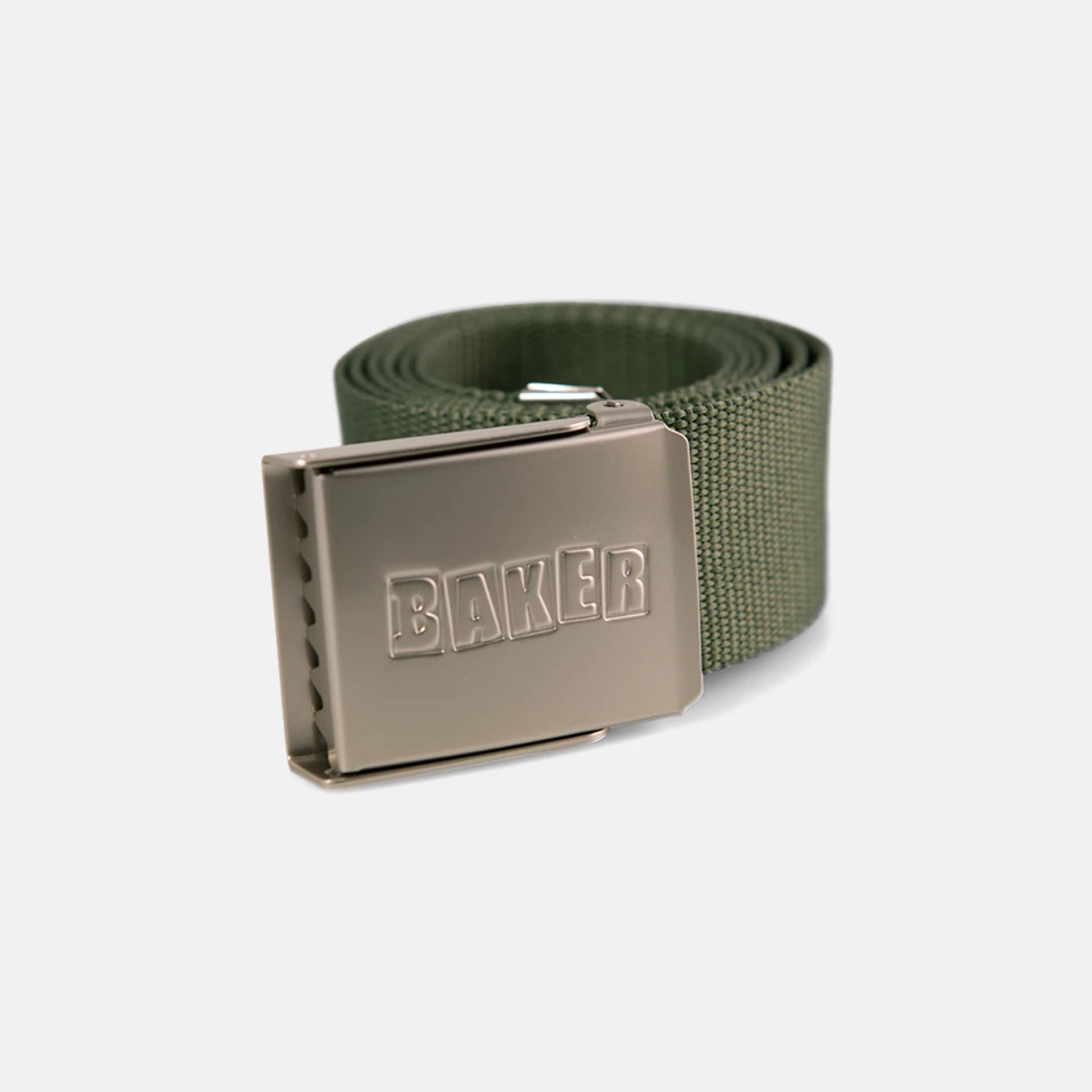 Baker Skateboards Brand Logo Forest Green Web Belt