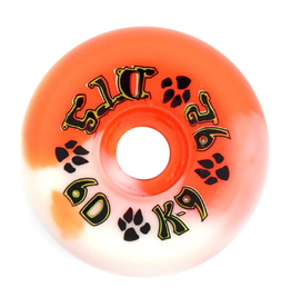 Dogtown K-9 80's 92a Orange/White Swirl 60mm