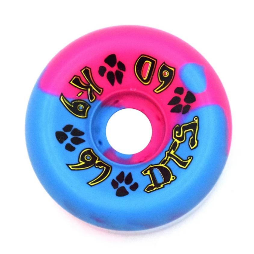 Dogtown K-9 80's 97a Pink/Blue Swirl 60mm