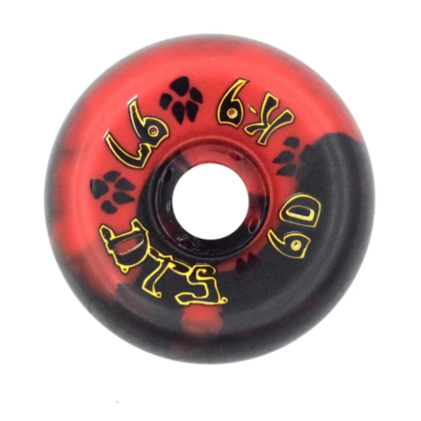 Dogtown K-9 80's 97a Red/Black Swirl 60mm