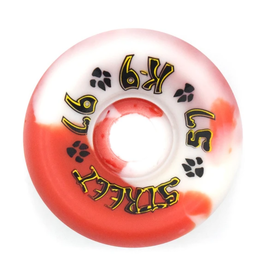 Dogtown K-9 80's 97a Red/White Swirl 57mm
