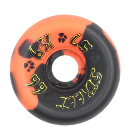 Dogtown K-9 80's 99a Orange/Black Swirl 57mm