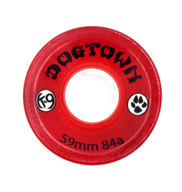 Dogtown K-9 Cruiser 84a Clear Red 59mm