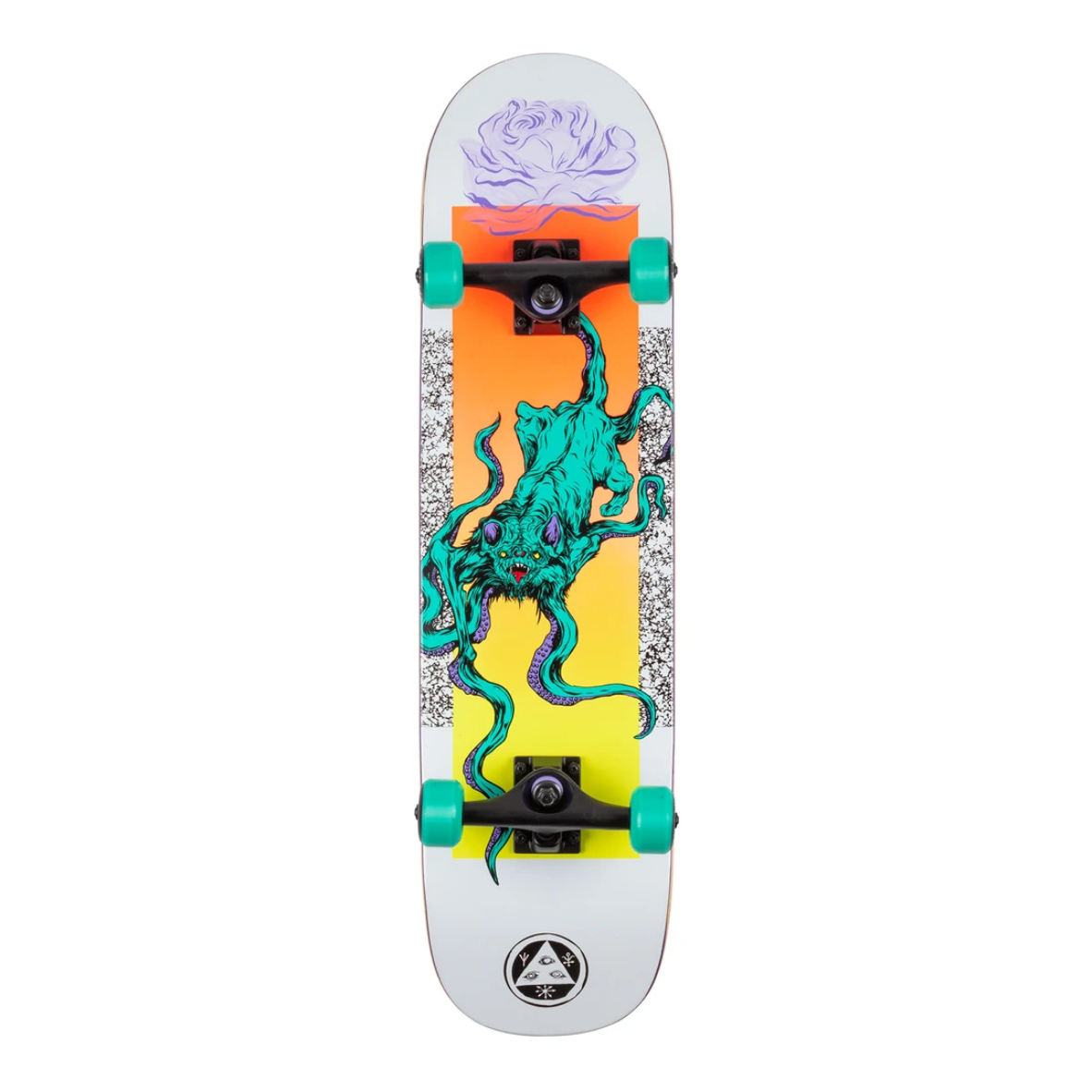 "Welcome Skateboards Bactocat White 8.0"" Complete"