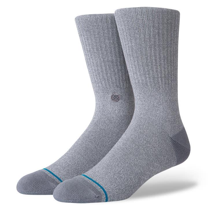Stance Socks Icon Grey Heather Large