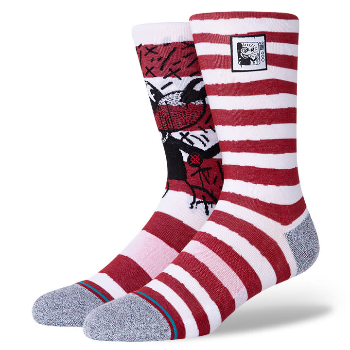 Stance Socks Mickey TV Haring Mix Red L