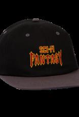 Sci-Fi Fantasy Biker Logo Hat Black/Metal