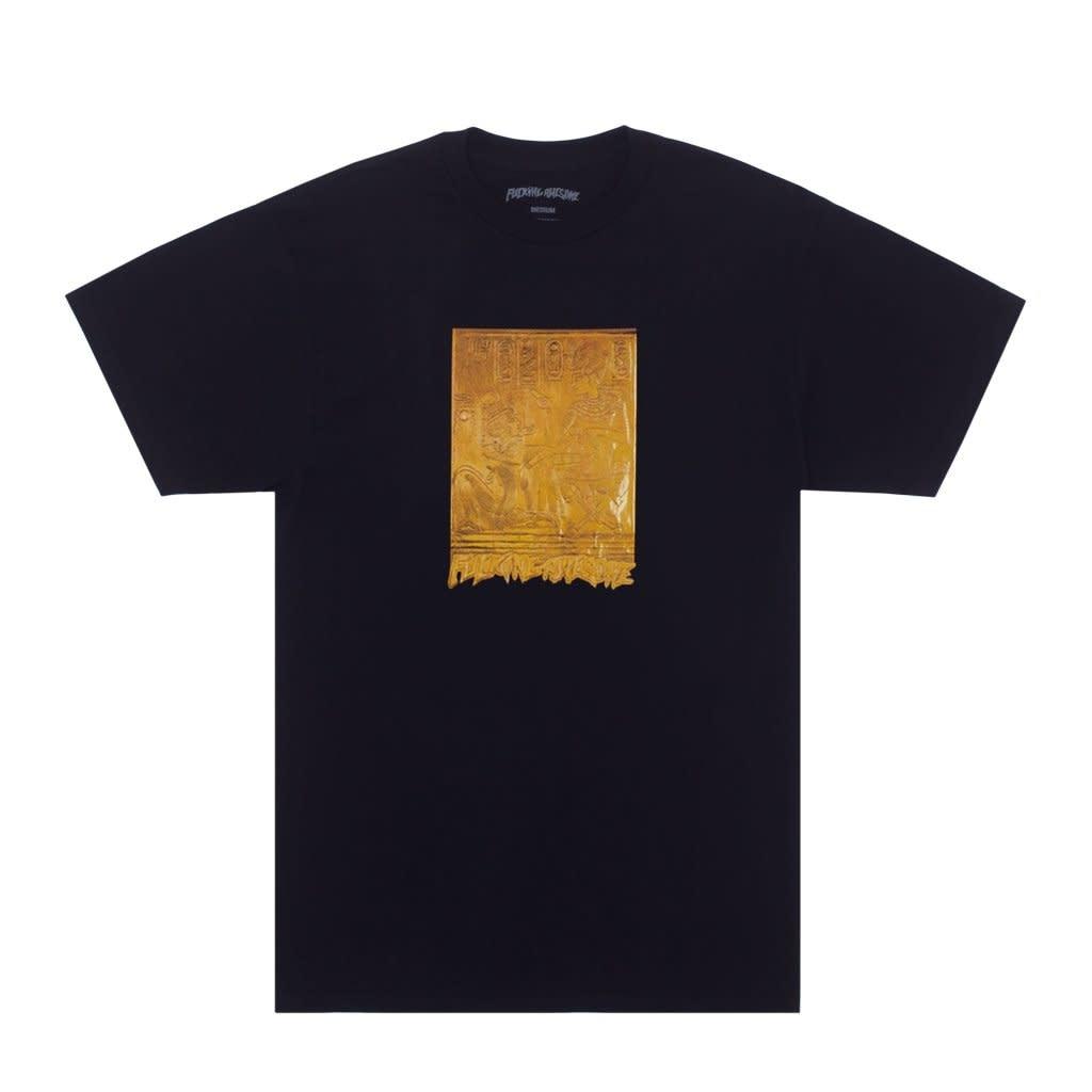 Fucking Awesome Gold Hieroglyphic Tee Black