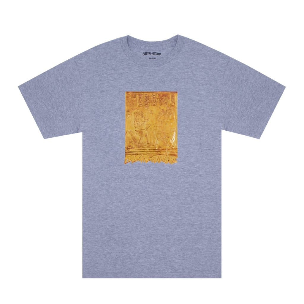 Fucking Awesome Gold Hieroglyphic Tee Heather Grey