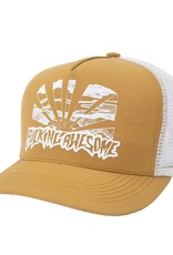 Fucking Awesome Sunset Curved Trucker Hat Gold