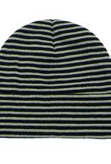 Fucking Awesome Striped Cuff Beanie Black/Neon Green