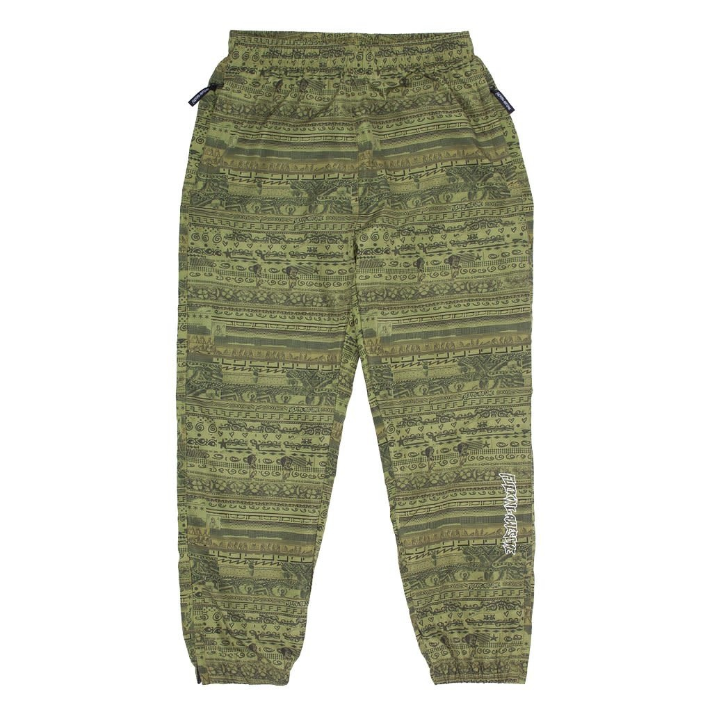 Fucking Awesome Stacked Track Pant Green
