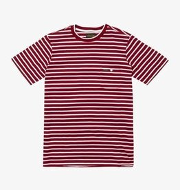 RVCA Baker Striped S/S Red/White