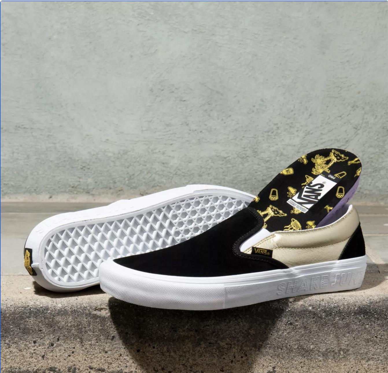Vans Shoes Slip On Pro x Shake Junt Black/Gold