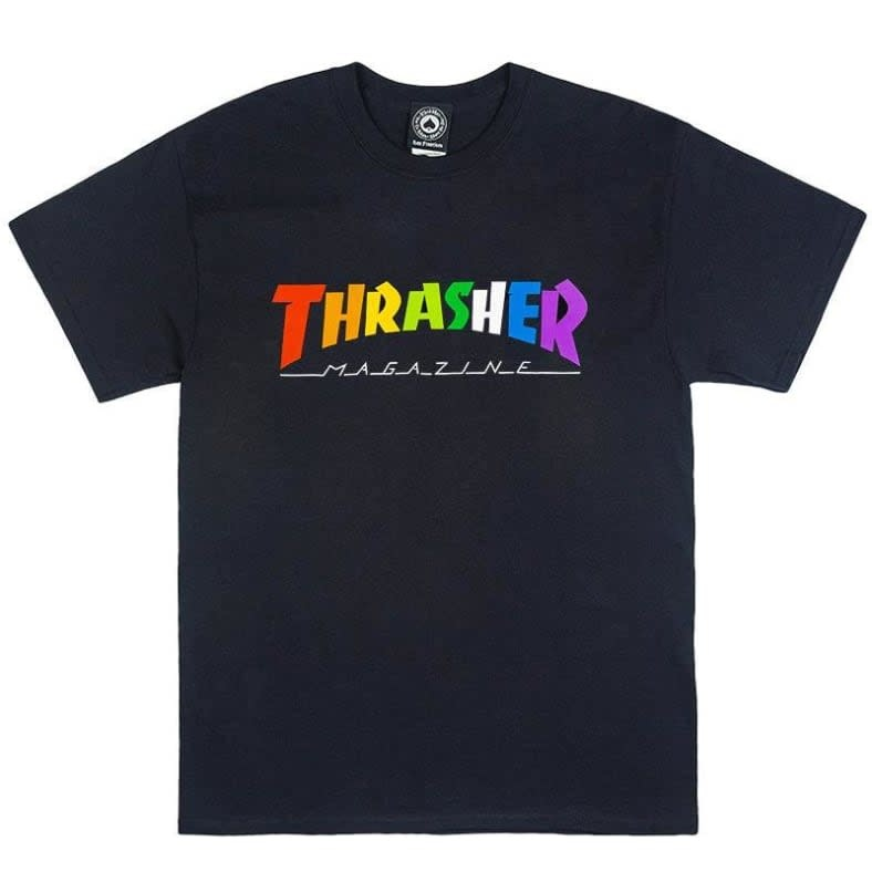Thrasher Mag. Rainbow Mag Black