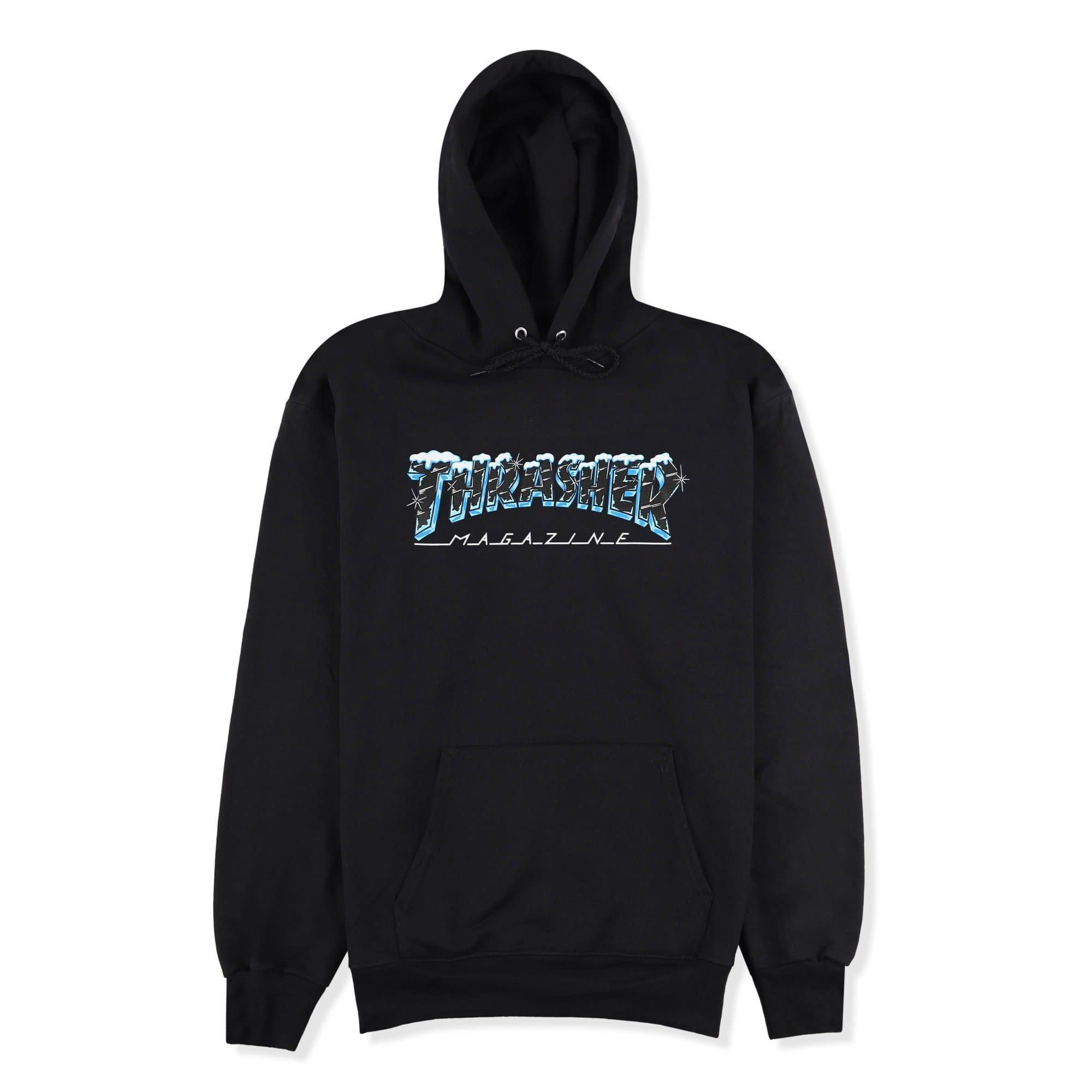 Thrasher Mag. Black Ice Hoody Black