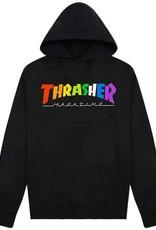 Thrasher Mag. Rainbow Mag Hoody Black
