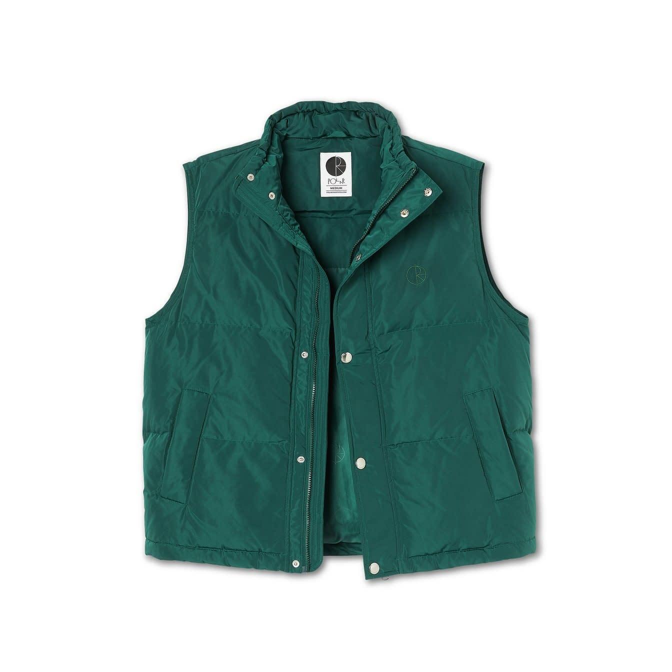 Polar Skate Co. Puffer Vest Dark Green Large