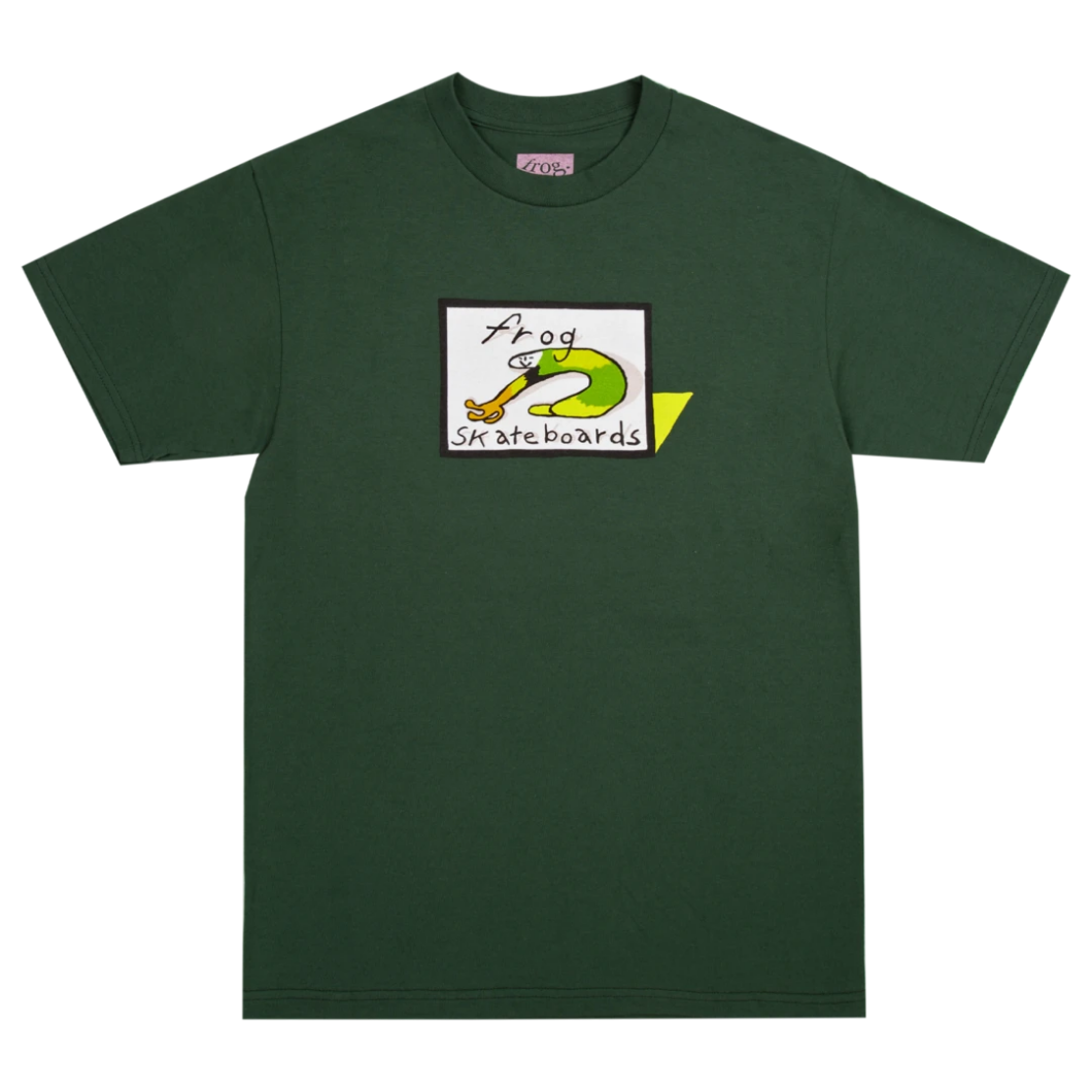 Frog Skateboards Classic Frog Logo Forest Green Tee