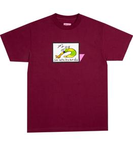 Frog Skateboards Classic Frog Logo Maroon Tee