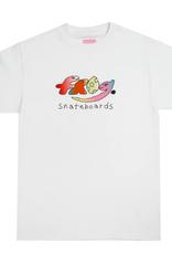 Frog Skateboards Dino Logo White Tee