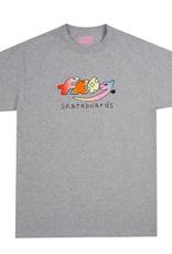 Frog Skateboards Dino Logo Athletic Grey Tee