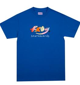 Frog Skateboards Dino Logo Royal Blue Tee