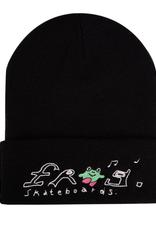 Frog Skateboards Happy Dirty Black Beanie