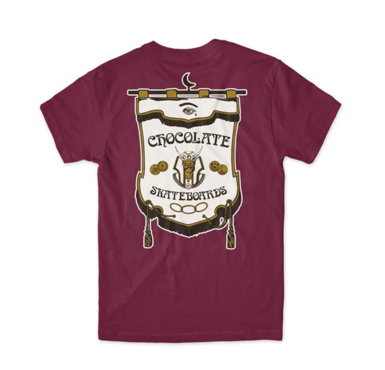 Chocolate Skateboards Secret Society Burgandy Tee
