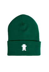 Grizzly Griptape OG Bear Embroidered Forest Green Beanie