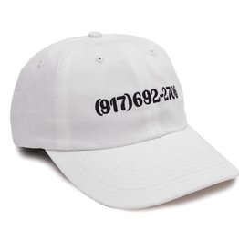 Call Me 917 917 Dialtone Hat White