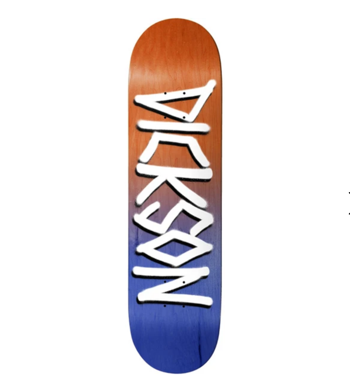 "Deathwish Skateboards JD Org/Navy Gang Name 8.25"""