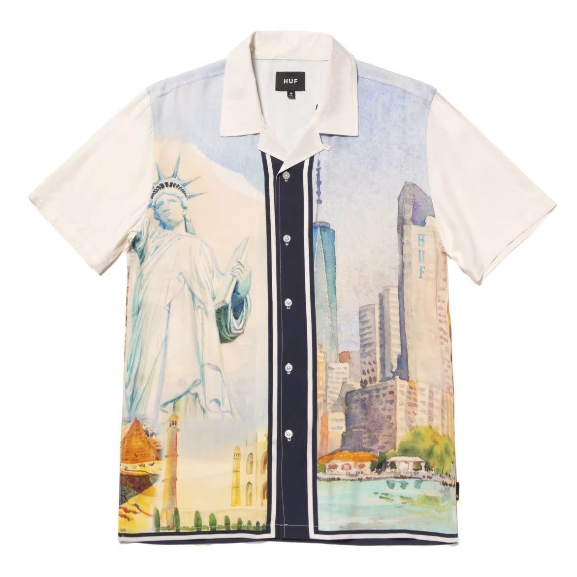 HUF Prestige Resort Shirt White