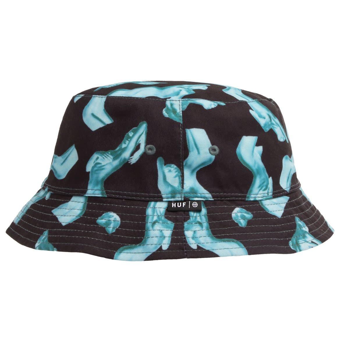 HUF Her Reversible Bucket Hat Black/White S/M