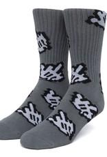HUF Fuck It Cursor Sock Charcoal